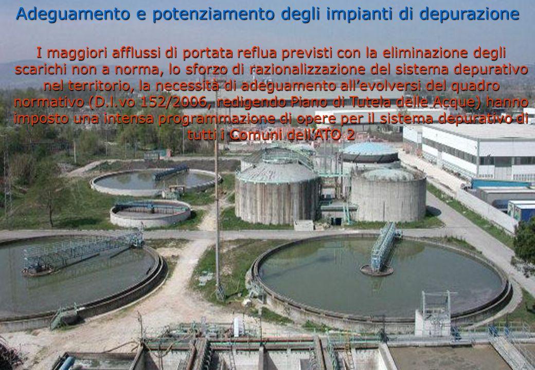Adeguamento e potenziamento degli impianti di depurazione
