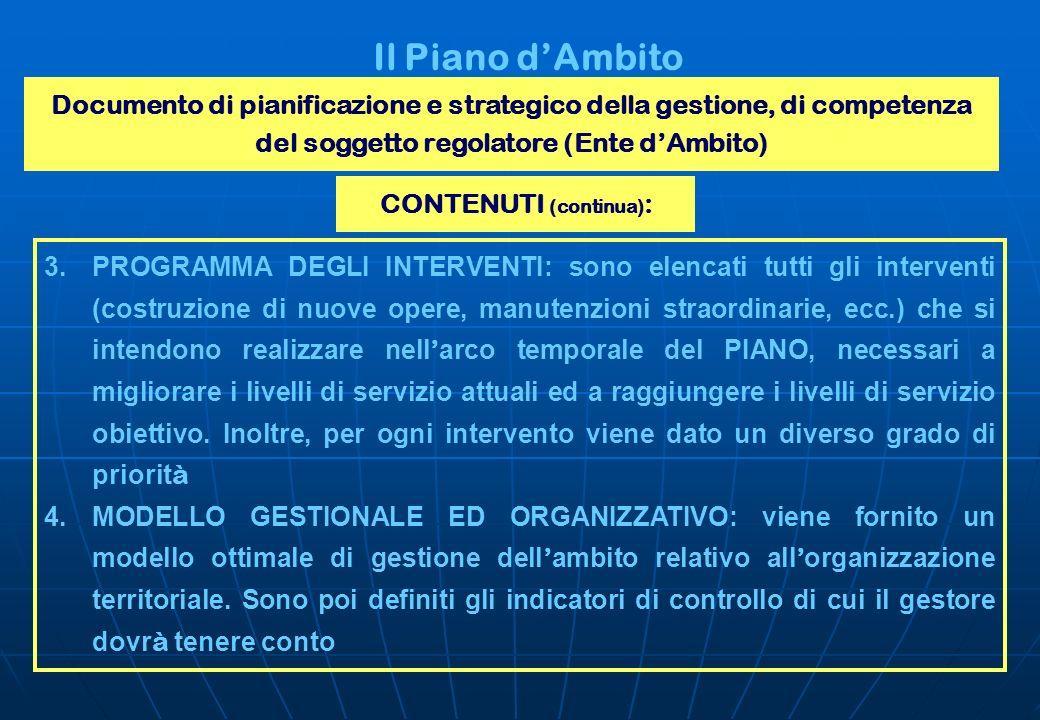 CONTENUTI (continua):