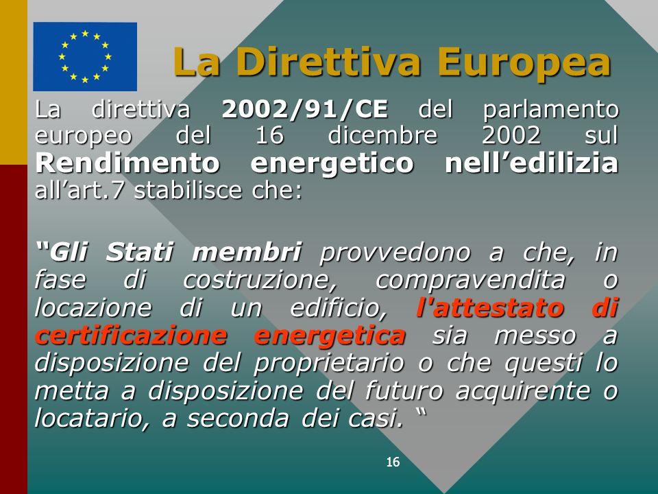 La Direttiva Europea