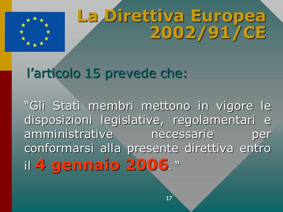 La Direttiva Europea 2002/91/CE