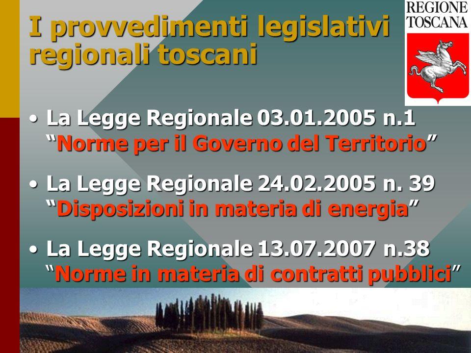 I provvedimenti legislativi regionali toscani
