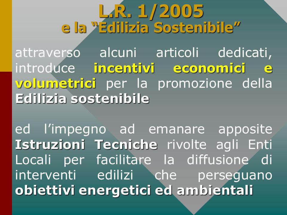 L.R. 1/2005 e la Edilizia Sostenibile