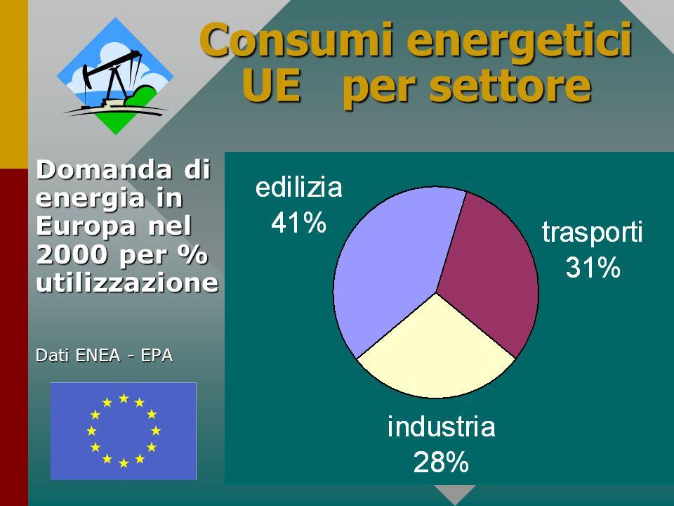 Consumi energetici UE per settore