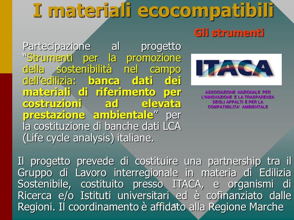 I materiali ecocompatibili