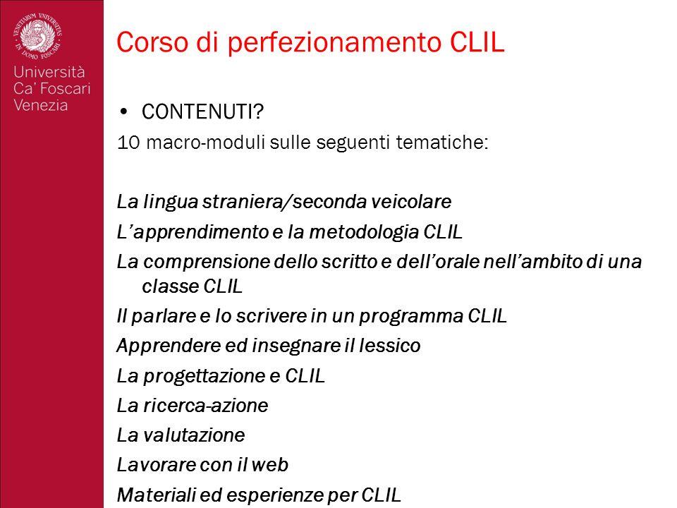Corso di perfezionamento CLIL