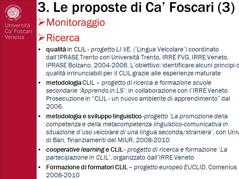 3. Le proposte di Ca' Foscari (3)