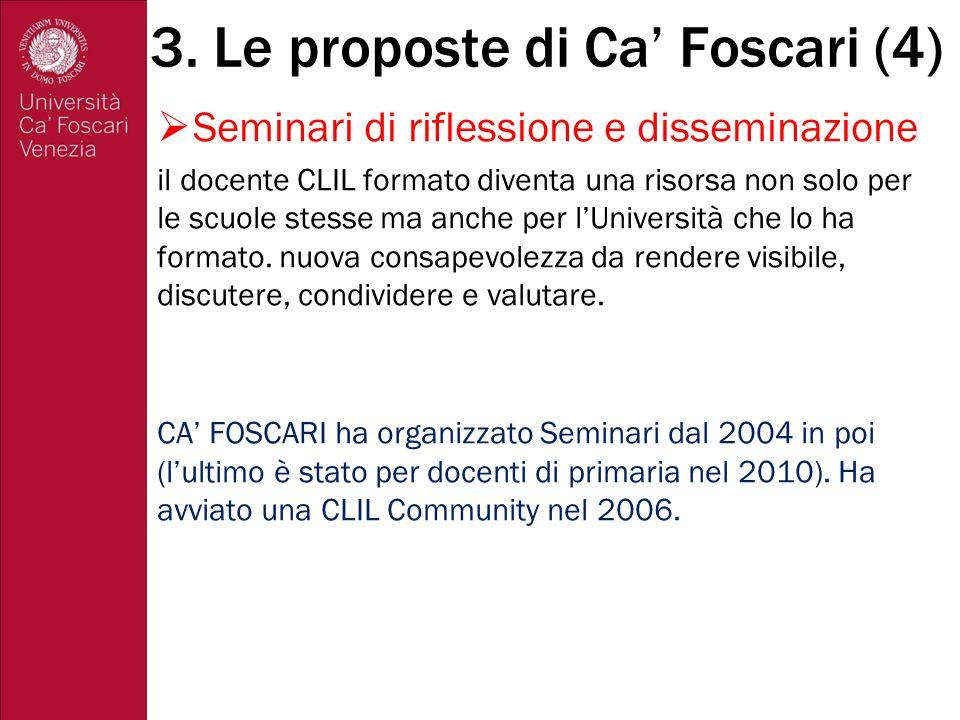3. Le proposte di Ca' Foscari (4)