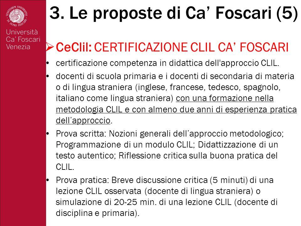 3. Le proposte di Ca' Foscari (5)