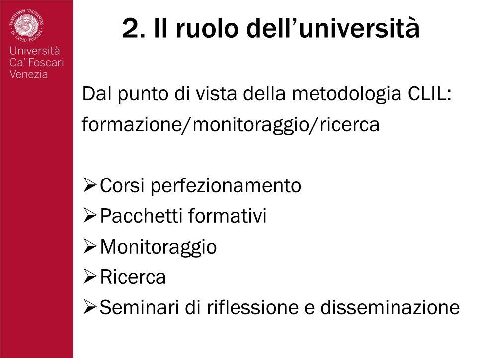 2. Il ruolo dell'università