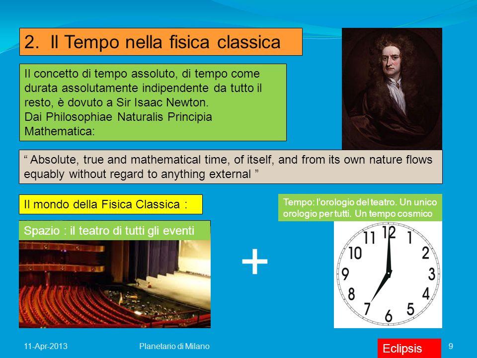 + 2. Il Tempo nella fisica classica
