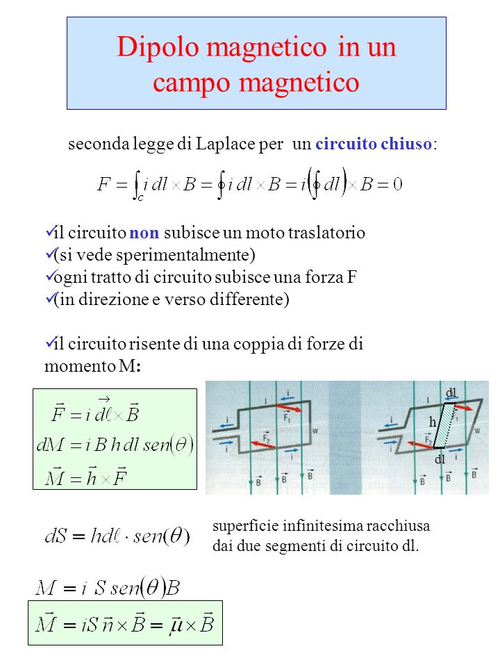 Dipolo magnetico in un campo magnetico