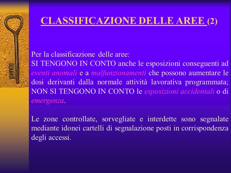 CLASSIFICAZIONE DELLE AREE (2)