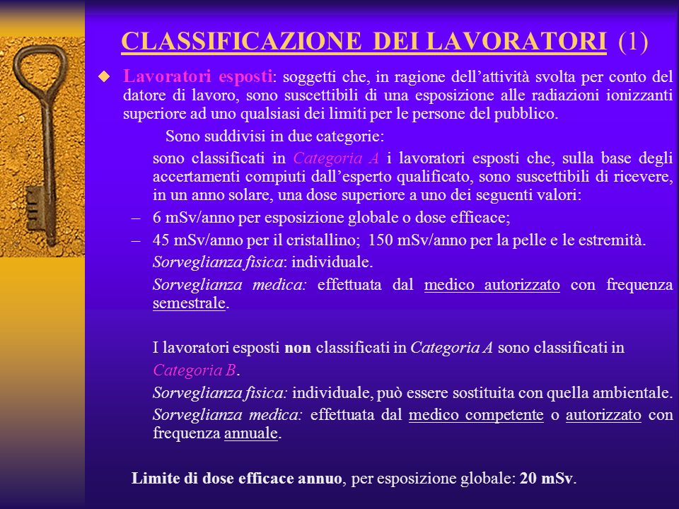 CLASSIFICAZIONE DEI LAVORATORI (1)