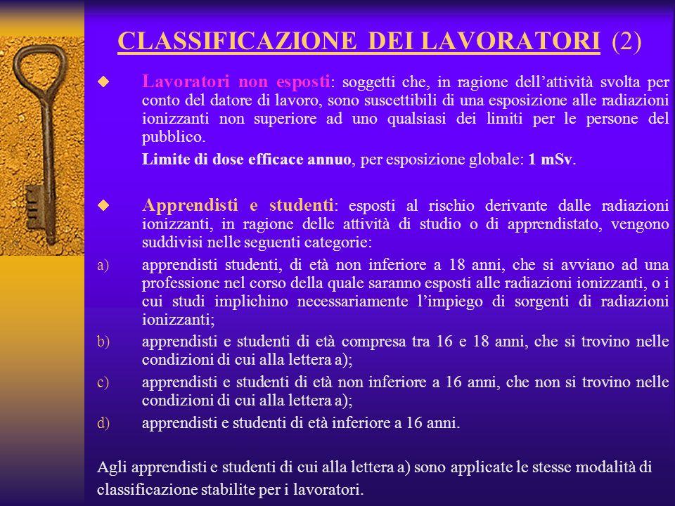 CLASSIFICAZIONE DEI LAVORATORI (2)