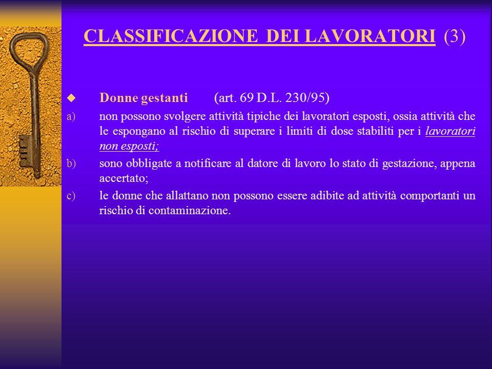 CLASSIFICAZIONE DEI LAVORATORI (3)