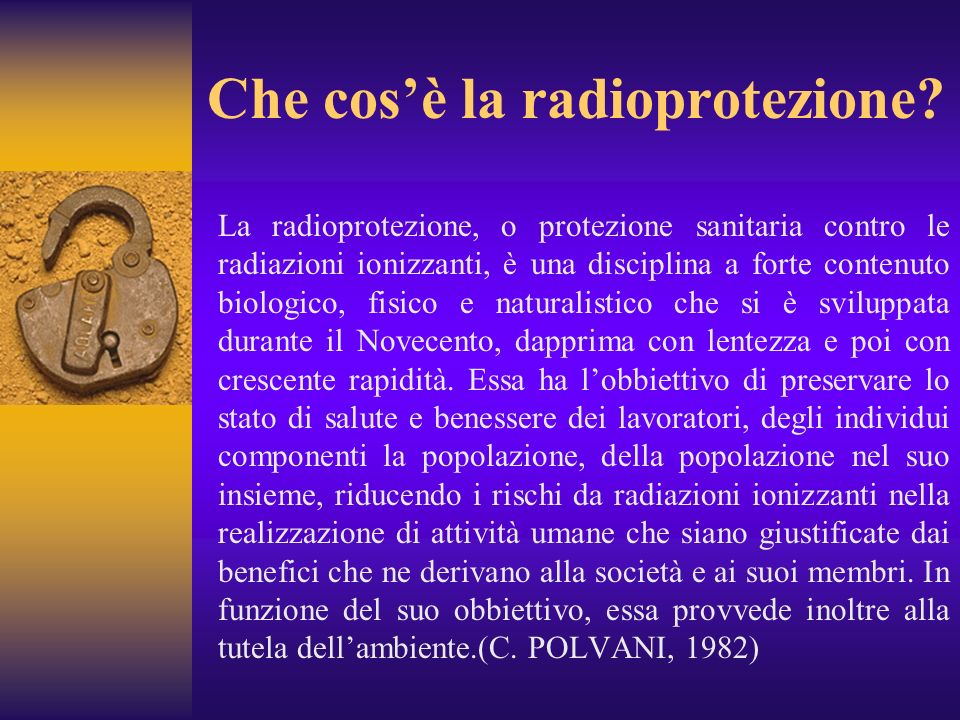 Che cos'è la radioprotezione