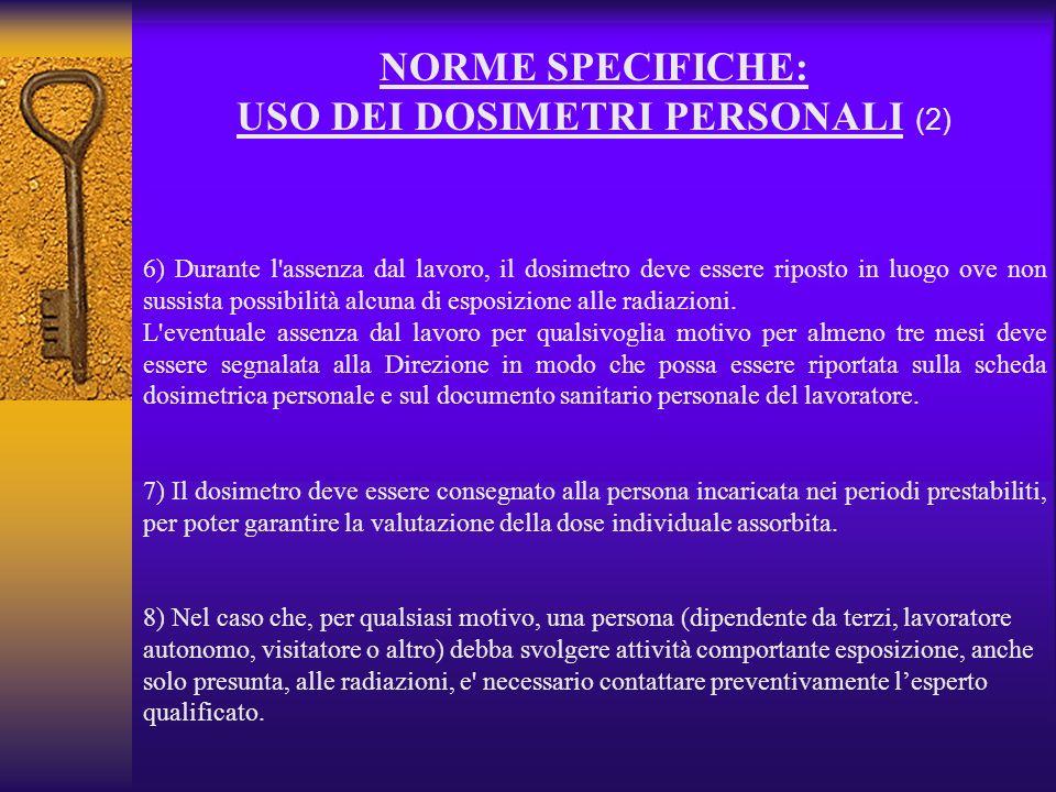 USO DEI DOSIMETRI PERSONALI (2)