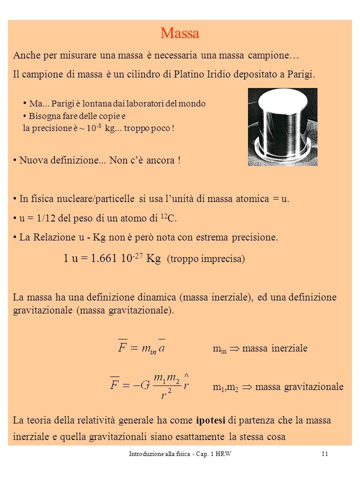 Introduzione alla fisica - Cap. 1 HRW