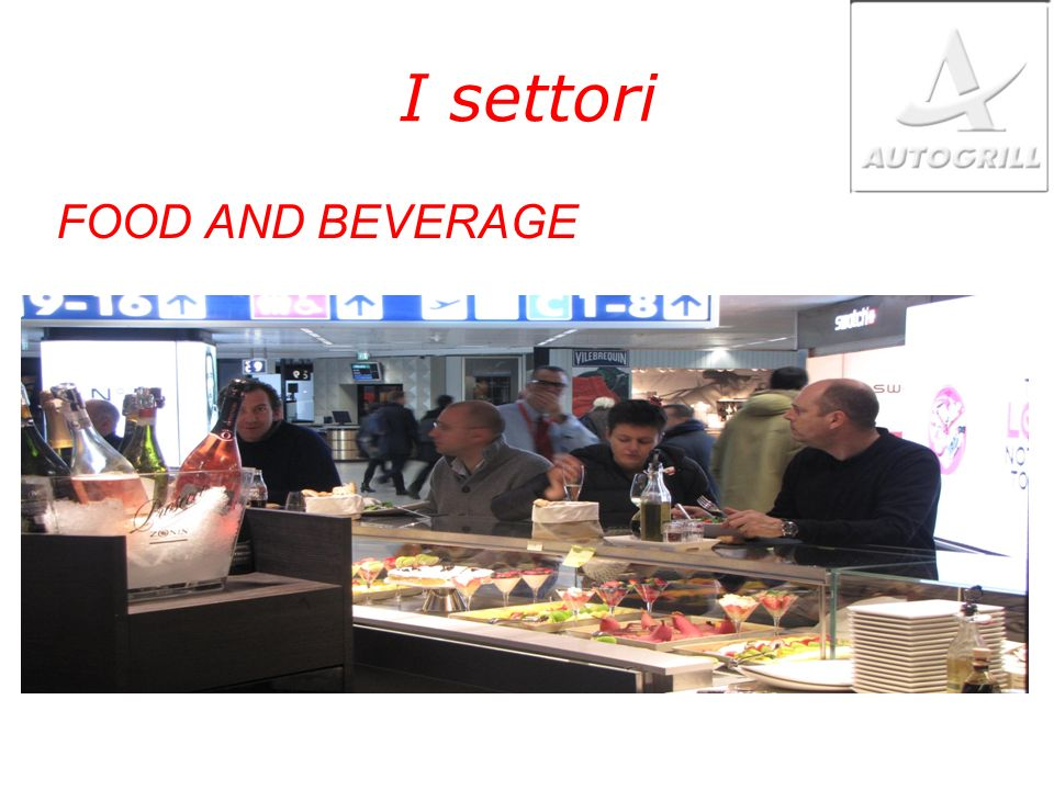 I settori FOOD AND BEVERAGE