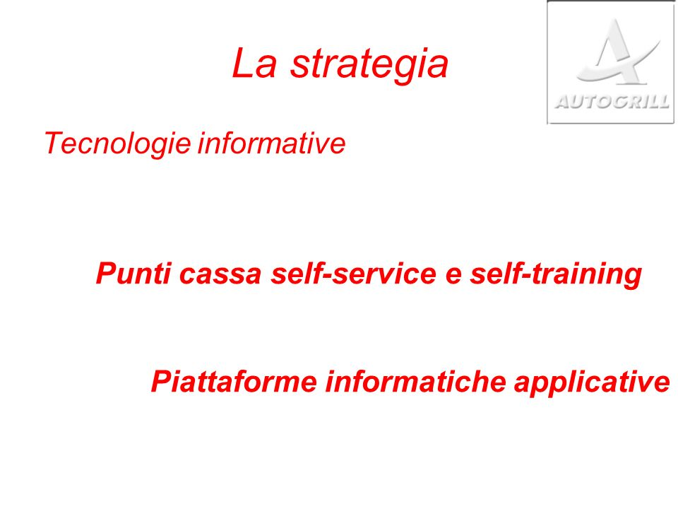 La strategia Tecnologie informative