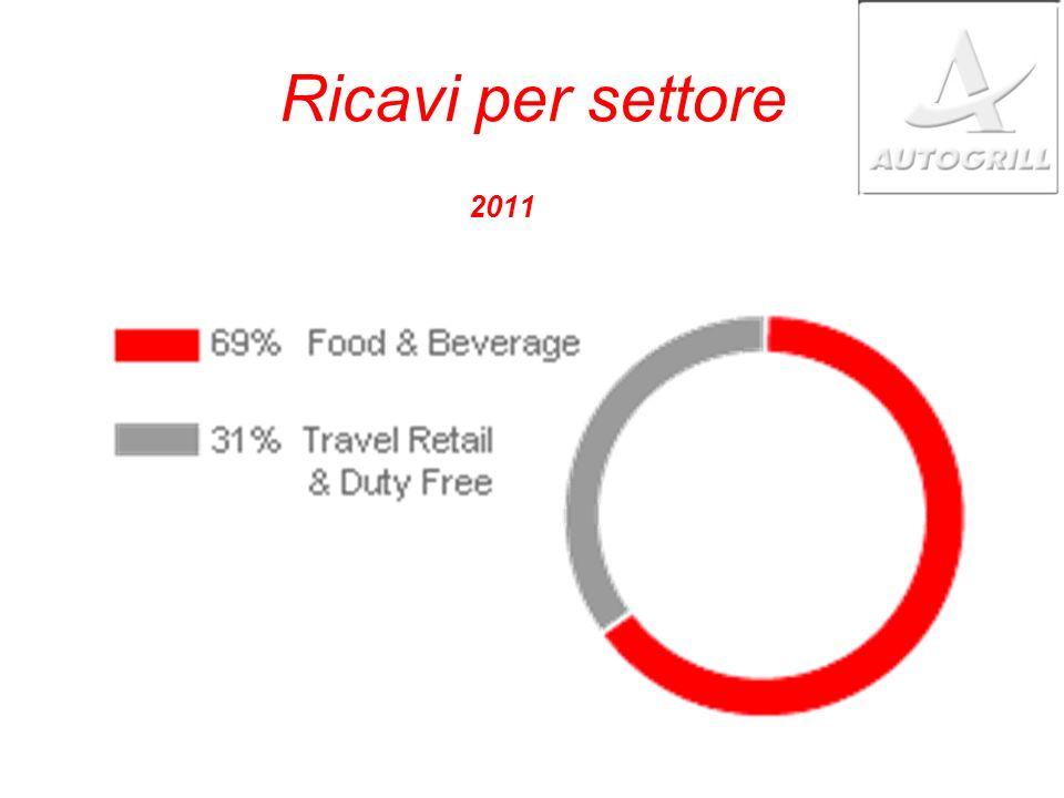 Ricavi per settore 2011