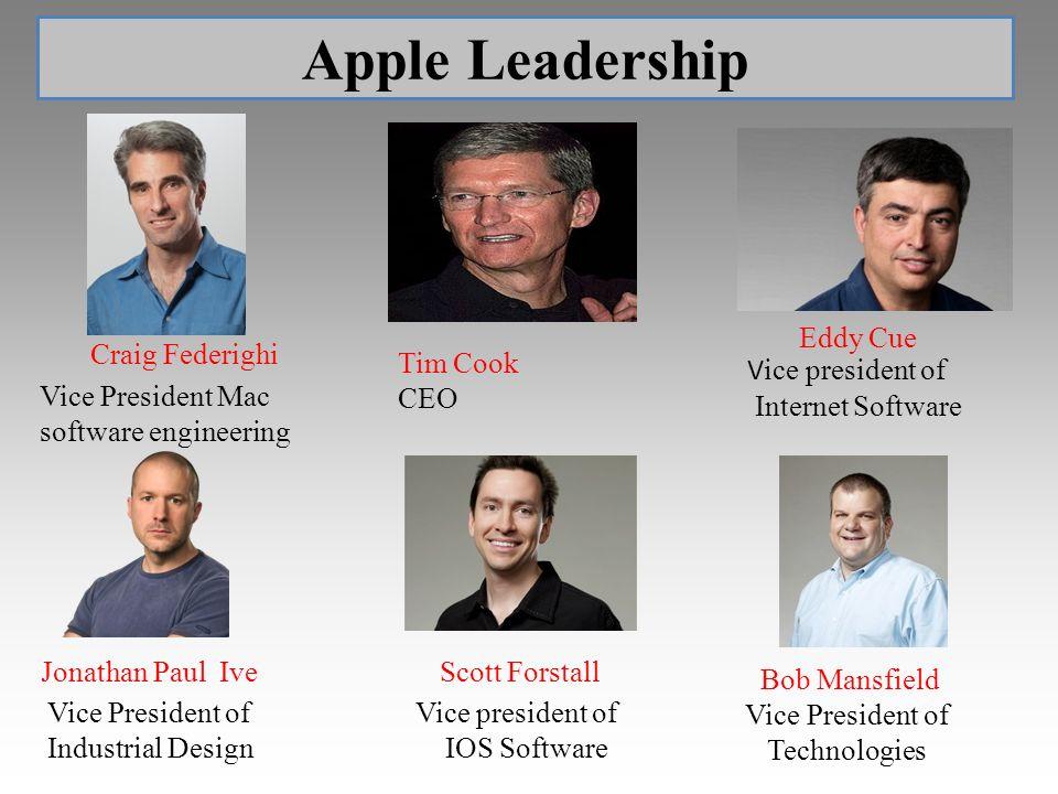 Apple Leadership Tim Cook CEO Eddy Cue Craig Federighi