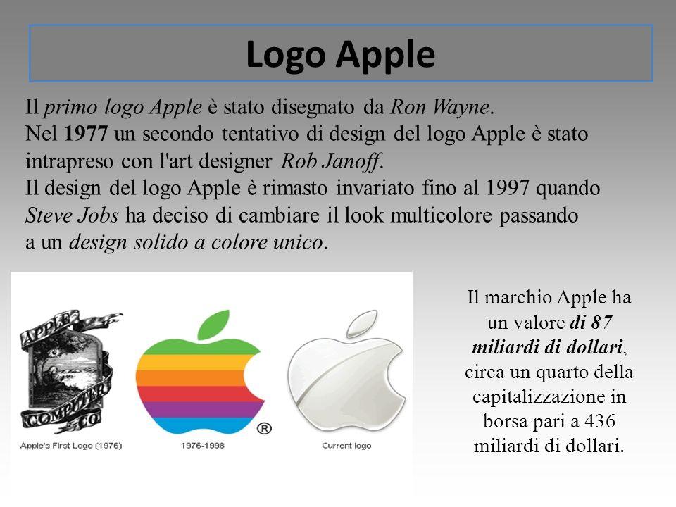 Logo Apple Il primo logo Apple è stato disegnato da Ron Wayne.