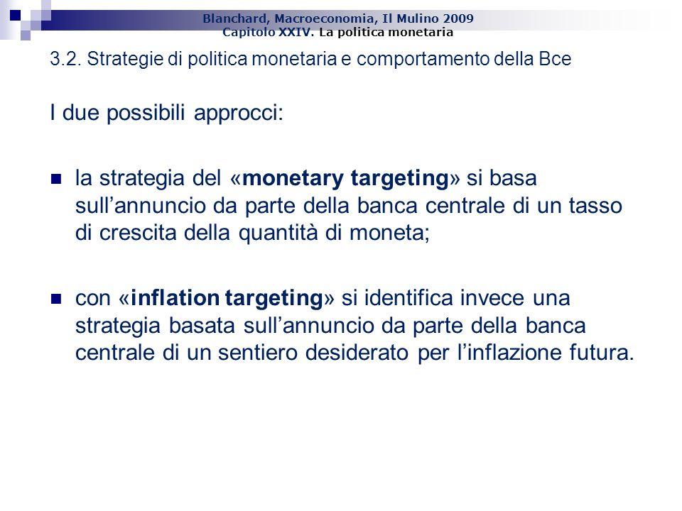 3.2. Strategie di politica monetaria e comportamento della Bce