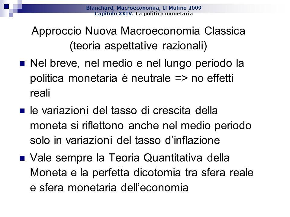 Approccio Nuova Macroeconomia Classica (teoria aspettative razionali)