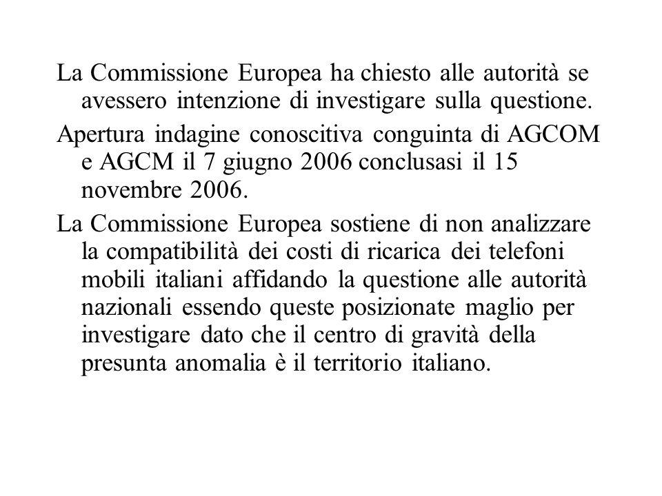 La Commissione Europea ha chiesto alle autorità se avessero intenzione di investigare sulla questione.