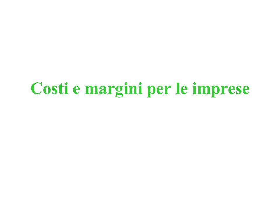 Costi e margini per le imprese