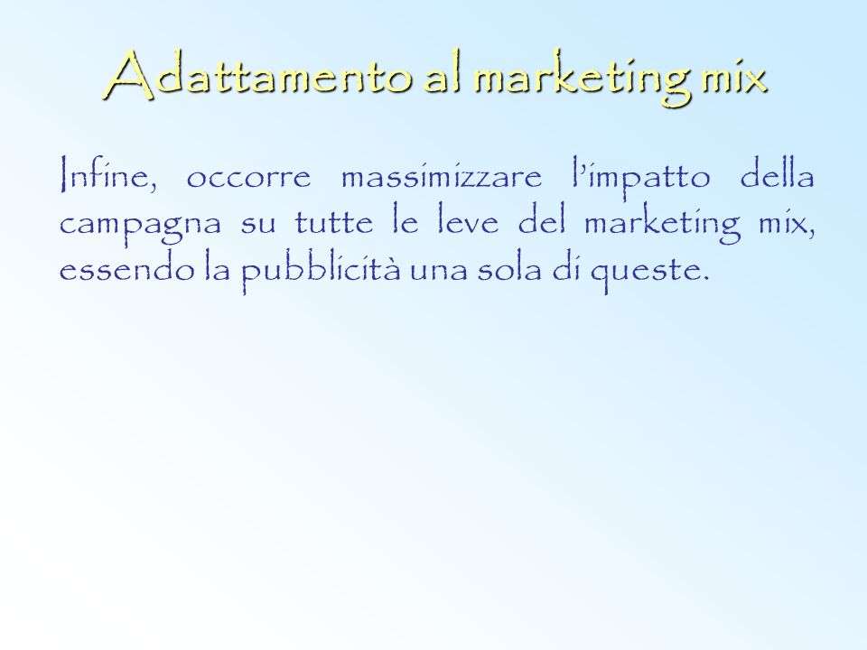 Adattamento al marketing mix