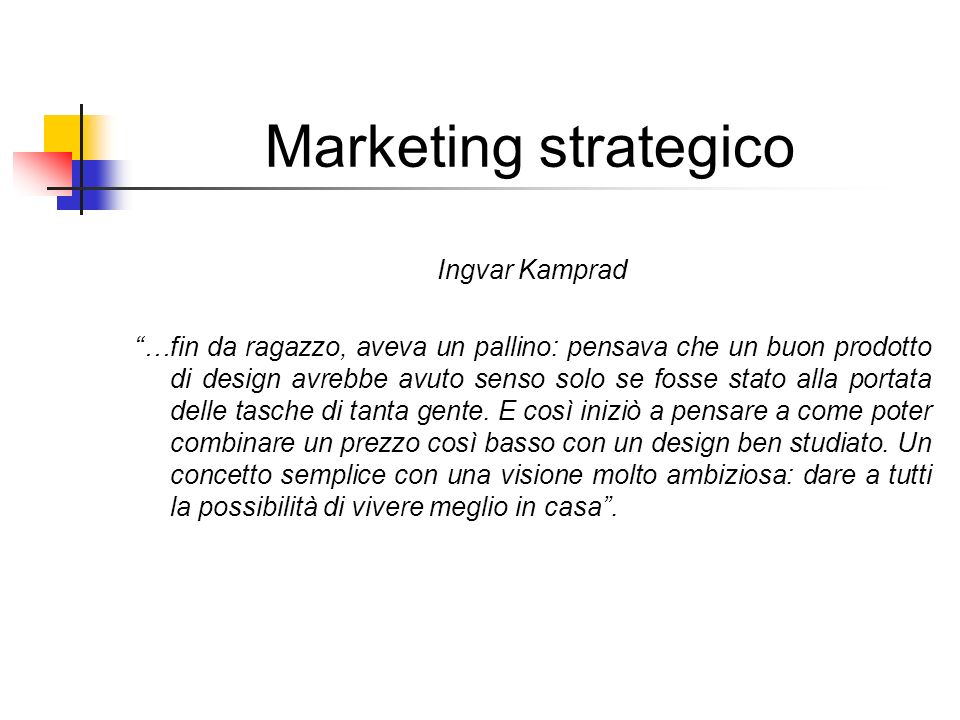 Marketing strategico Ingvar Kamprad