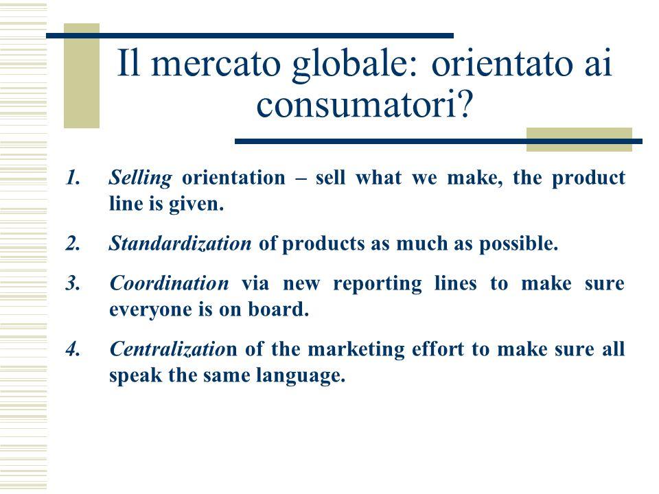 Il mercato globale: orientato ai consumatori