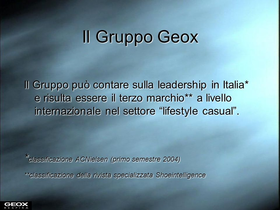 Il Gruppo Geox
