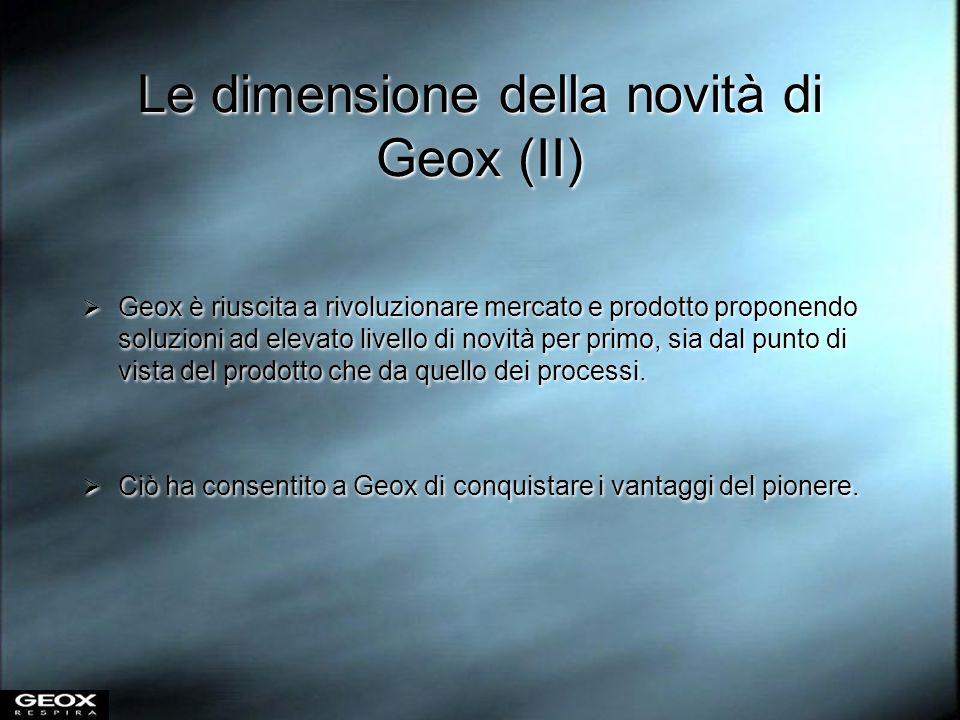 Le dimensione della novità di Geox (II)