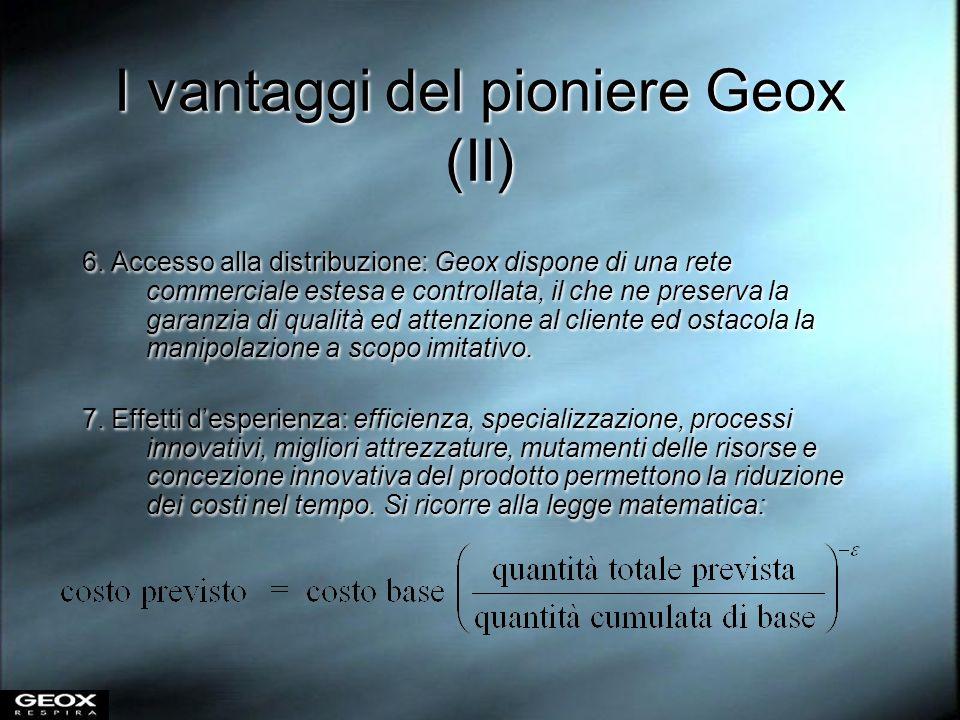 I vantaggi del pioniere Geox (II)