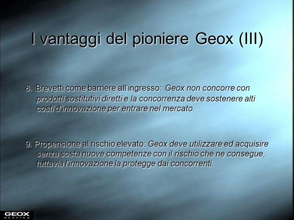 I vantaggi del pioniere Geox (III)