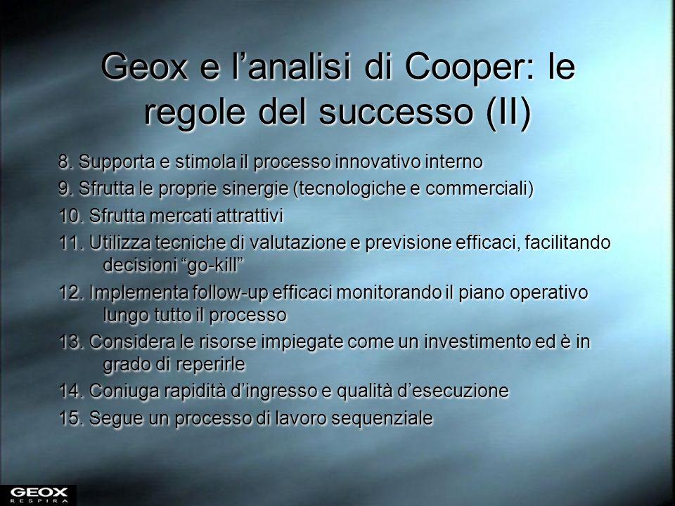 Geox e l'analisi di Cooper: le regole del successo (II)