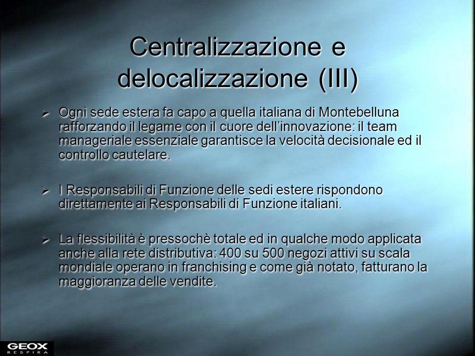 Centralizzazione e delocalizzazione (III)
