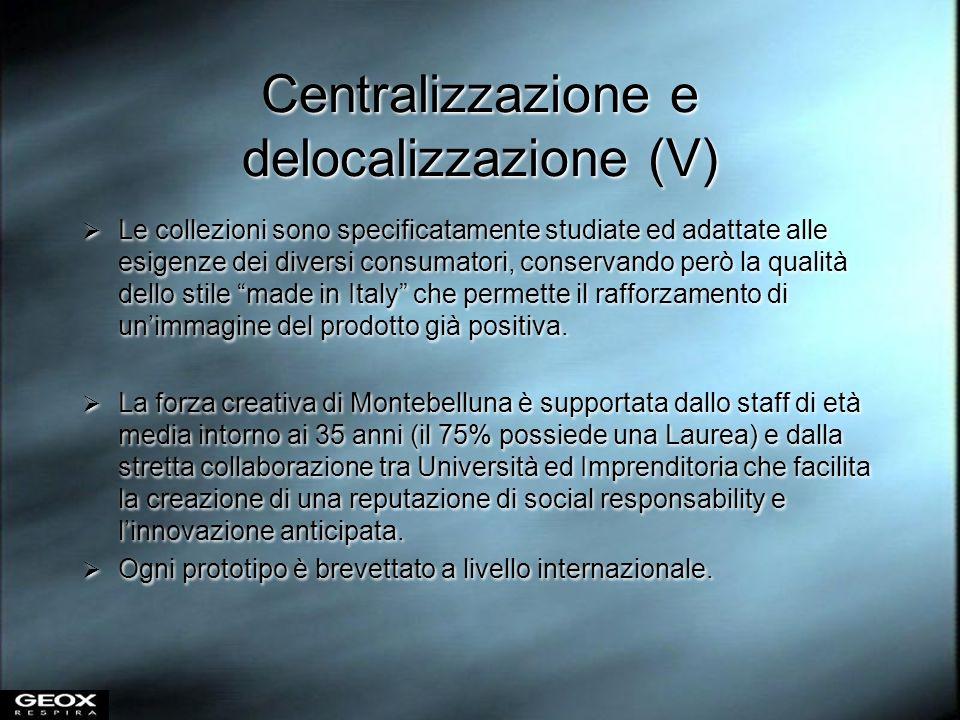 Centralizzazione e delocalizzazione (V)