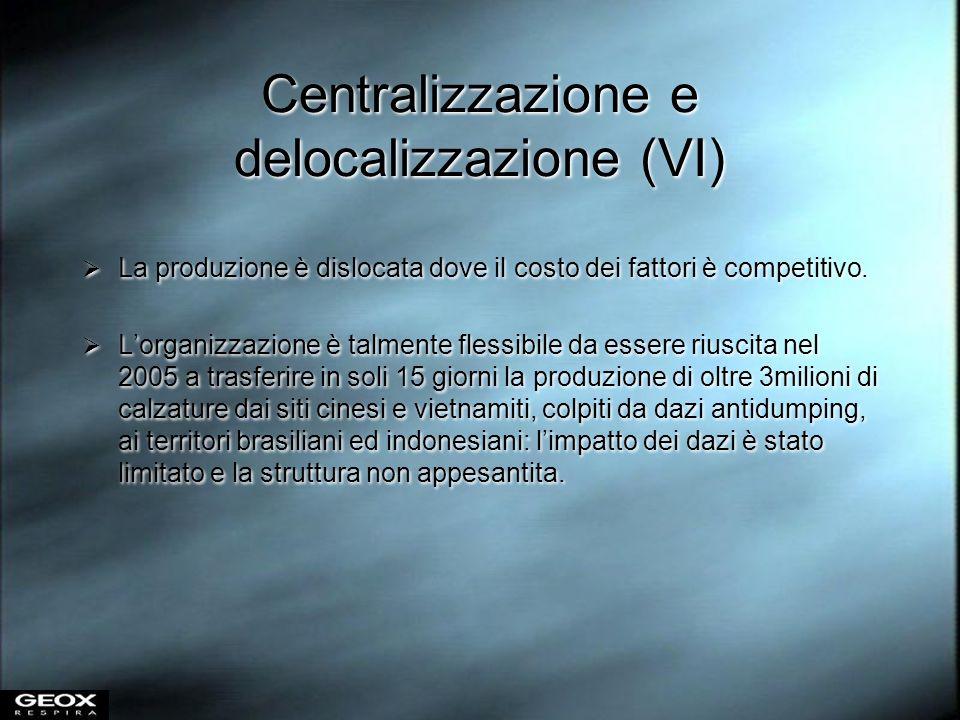 Centralizzazione e delocalizzazione (VI)
