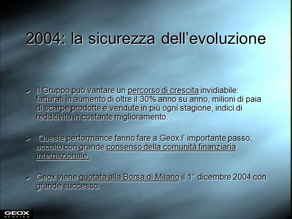 2004: la sicurezza dell'evoluzione