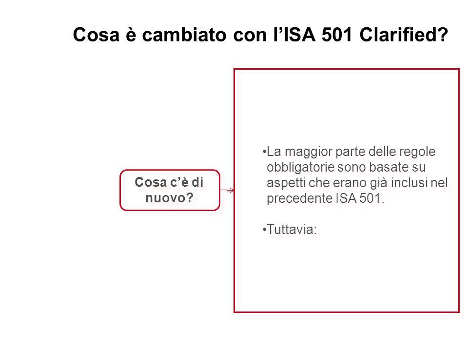 Cosa è cambiato con l'ISA 501 Clarified