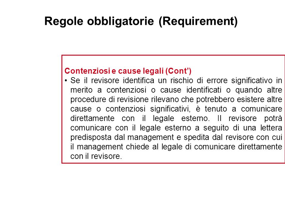 Regole obbligatorie (Requirement)