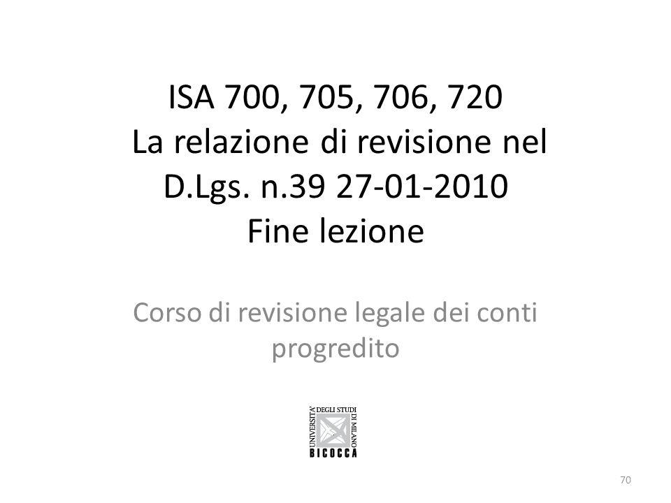 Corso di revisione legale dei conti progredito