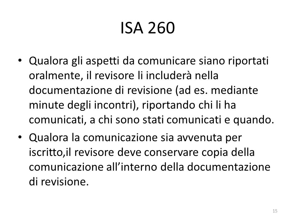ISA 260