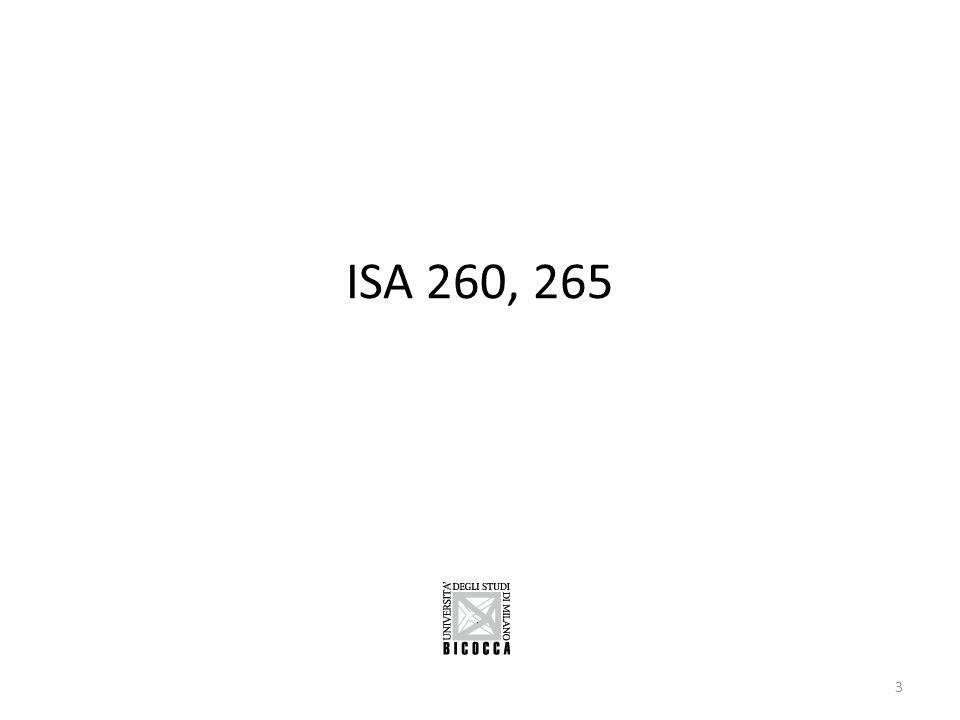 ISA 260, 265