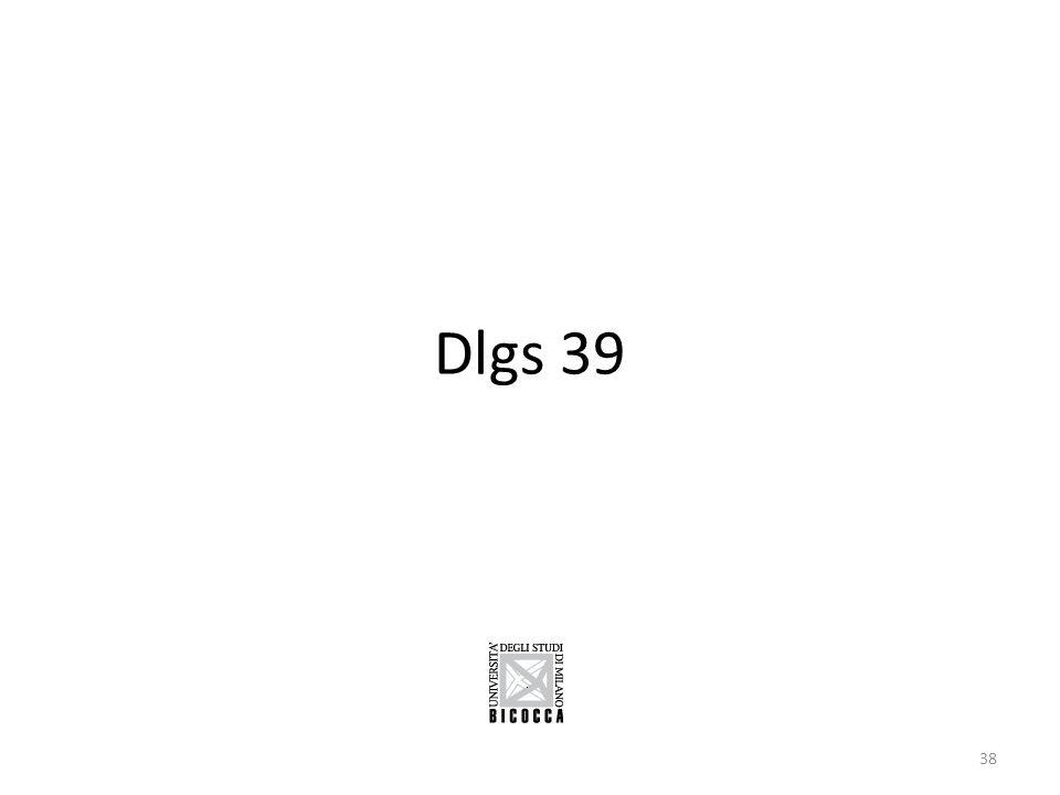Dlgs 39