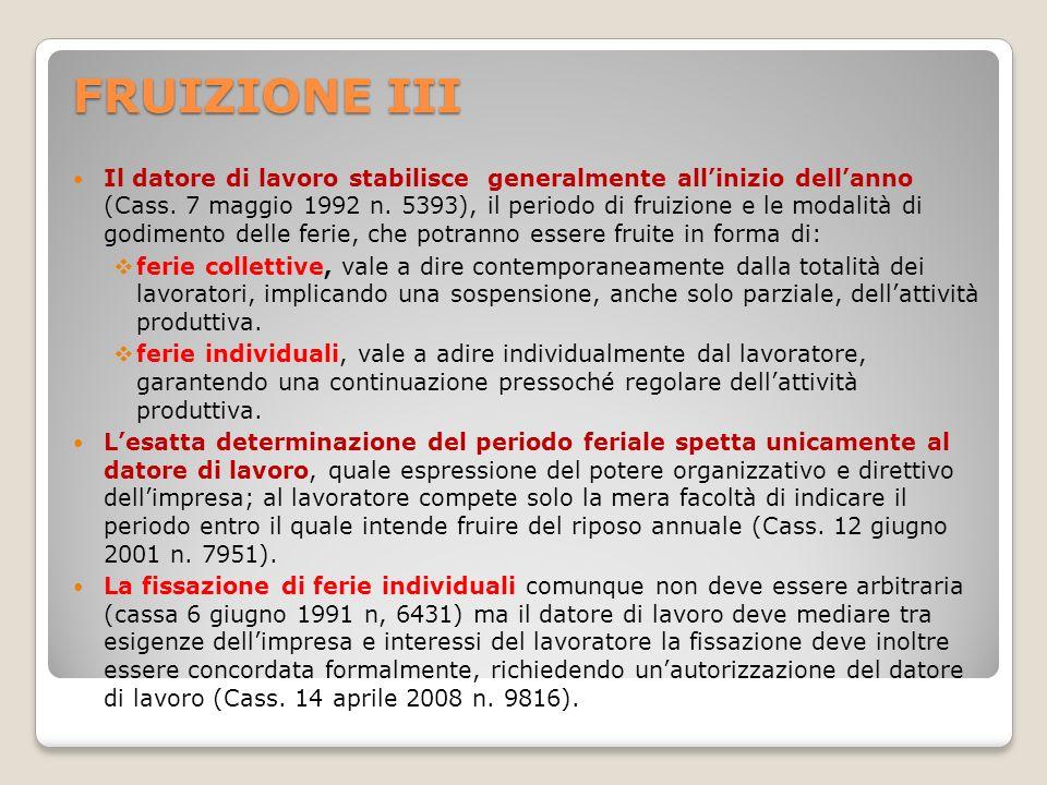 FRUIZIONE III